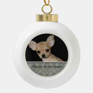 Custom Pet Memorial Ceramic Ball Ornament