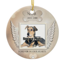 Custom Pet Memorial Ceramic Ornament