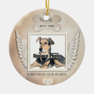 Custom Pet Memorial Ceramic Ornament