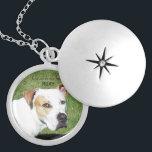 "Custom pet memorial locket<br><div class=""desc"">Memorialize your beloved pet with this beautiful silver locket</div>"