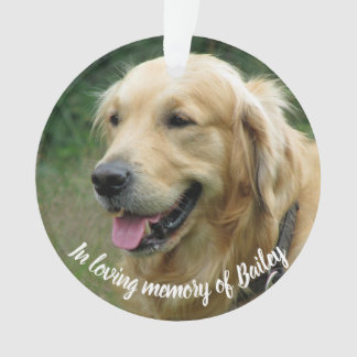 Custom pet memorial photo keepsake | loving memory ornament