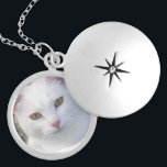 """Custom Pet Memorial Photo Locket<br><div class=""""desc"""">This silver plated photo necklace is ready for you to insert your own pet photo. This beautiful necklace is perfect as a gift for friends and family,  or buy one for yourself. The image  is fully CUSTOMIZABLE. Click &quot;customize&quot; to adjust photo size or text size. MORE NECKLACES:</div>"""