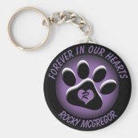 Custom Pet Memorial with Changeable Colors Keychain