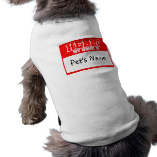 Custom Pet Name Tag Shirt