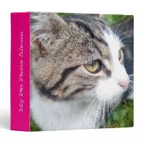 Custom pet photo album   Add your image here 3 Ring Binder
