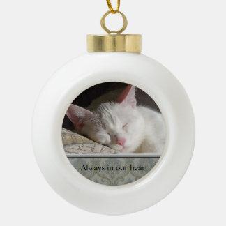 Custom Pet Photo Ceramic Ball Ornament