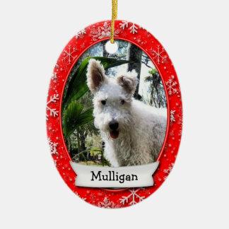 Custom Pet Photo • Commemorative Dated (2 Sided) Ceramic Ornament