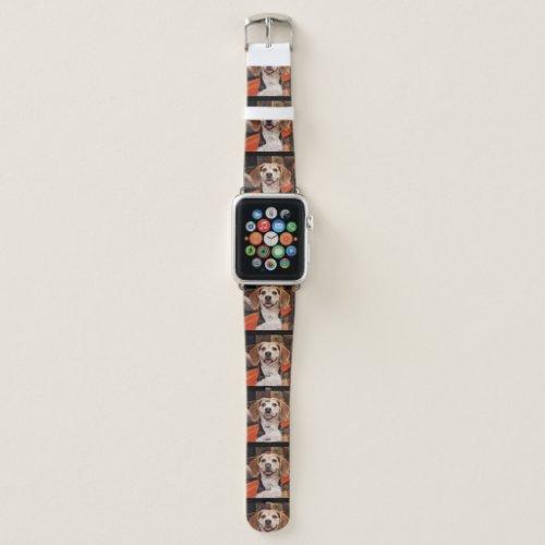 Custom Pet Photo Cute Personalized Black Apple Watch Band