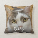 """Custom Pet Photo Image Personalized Throw Pillow<br><div class=""""desc"""">Upload your photo, add a name, and create your perfect personalized photo throw pillow. You can TRANSFER this DESIGN on other Zazzle products and adjust it to fit most of the Zazzle items. You can also click the CUSTOMIZE button to add, delete or change details like background color, text, font...</div>"""