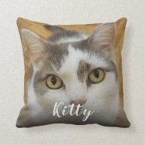 Custom Pet Photo Image Personalized Throw Pillow