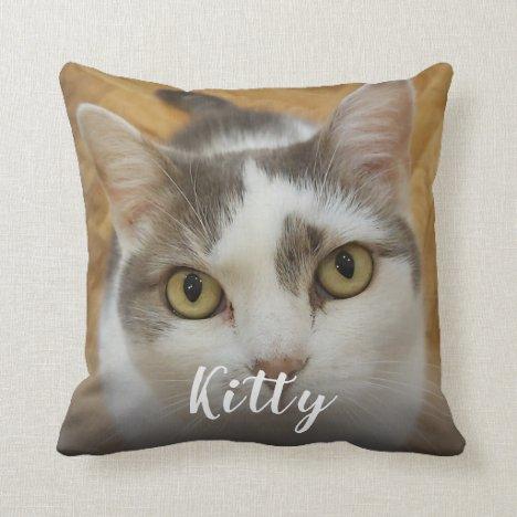 Custom Pet Photo Image Personalized Throw Pillow