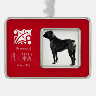 Custom pet photo memorial Christmas ornament