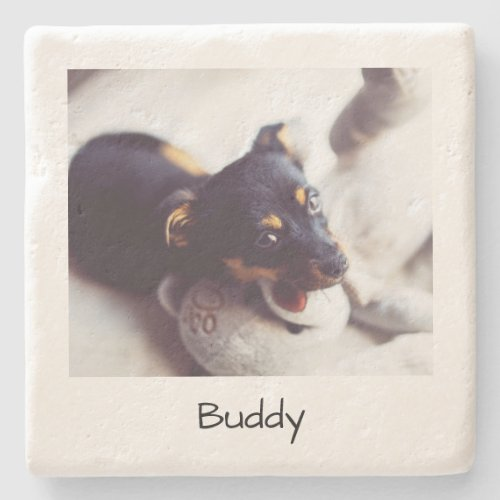 Custom Pet Photo Memories Personalized Stone Coaster