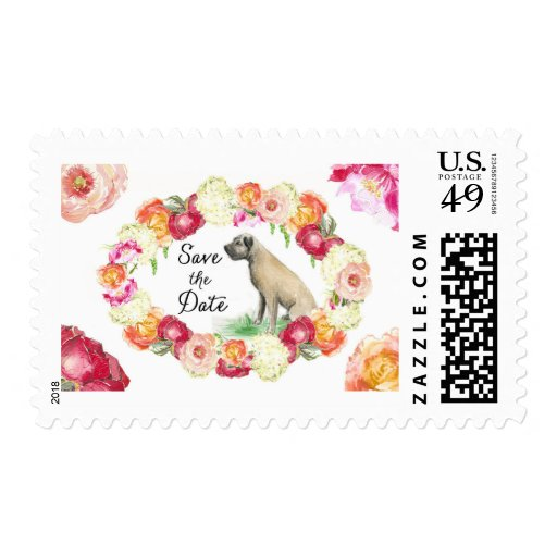 Custom Pet Save the Date Stamp