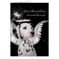 Custom Pet Sympathy Loss of a Dog Dalmatian Angel Card