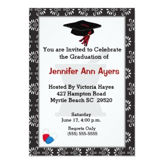 Custom Pharmacist Graduation Invitation