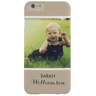 Custom Phone with Family Kids Baby Personal Photo Barely There iPhone 6 Plus Case