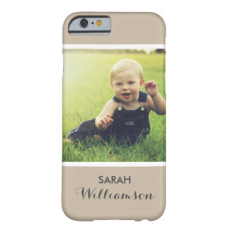 Custom Phone with Family Kids Baby Personal Photo Barely There iPhone 6 Case