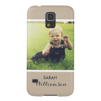 Custom Phone with Family Kids Baby Personal Photo Galaxy S5 Case