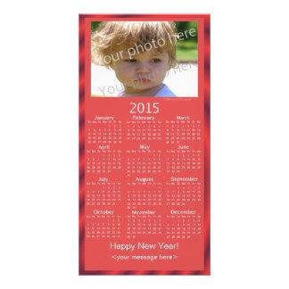 Custom Photo 2015 Calendar Card Happy New Year Photo Card Template