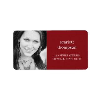 Custom Photo Address Label Labels
