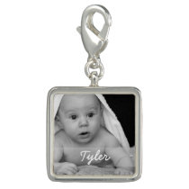 Custom Photo and Name Charm