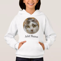 Custom Photo and Name Personalized Kids Hoodie