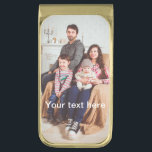 """Custom Photo and/or Text Gold Finish Money Clip<br><div class=""""desc"""">Customize by adding your own photo and text to the product! You get a uniqe,  personalized design specially made for you,  by you!</div>"""
