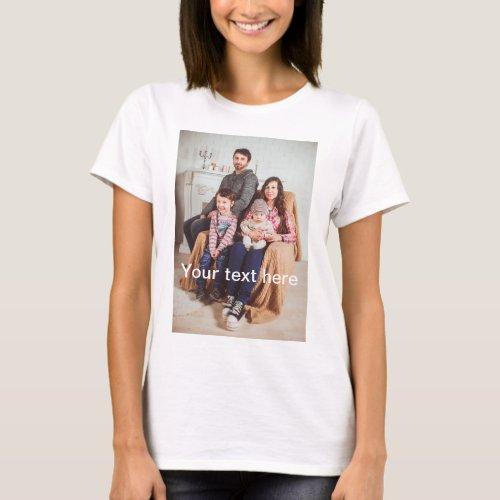 Custom Photo andor Text T_Shirt