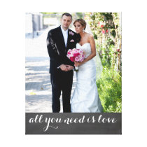 Custom photo and text married couple | newly weds canvas print