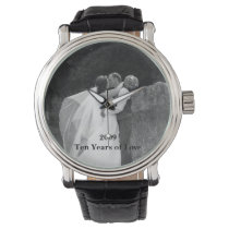Custom photo and text watch