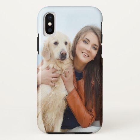 Custom Photo Apple iPhone X Tough Phone Case