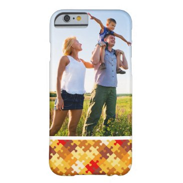 Halloween Themed Custom Photo Autumn colors puzzle background Barely There iPhone 6 Case
