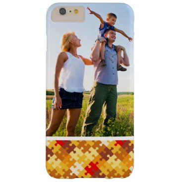 Halloween Themed Custom Photo Autumn colors puzzle background Barely There iPhone 6 Plus Case