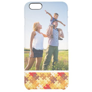Halloween Themed Custom Photo Autumn colors puzzle background Clear iPhone 6 Plus Case