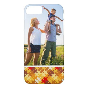 Halloween Themed Custom Photo Autumn colors puzzle background iPhone 8/7 Case