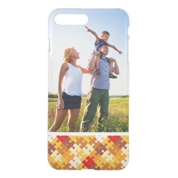 Halloween Themed Custom Photo Autumn colors puzzle background iPhone 8 Plus/7 Plus Case
