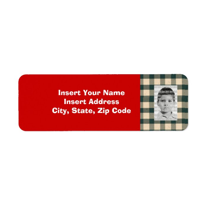 Custom Photo Avery Address Label Zazzle