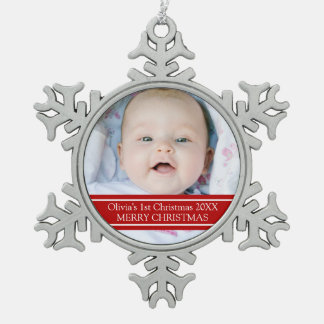 Custom Photo Baby s 1st Christmas Ornament
