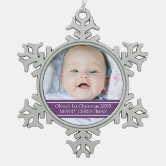 Custom Photo Baby's 1st Christmas Ornament