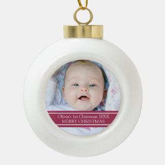 Custom Photo Baby's 1st Christmas Ornament