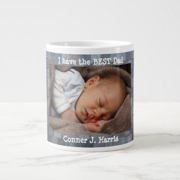 USA Themed Custom Photo, Best Dad, Personalized Large Coffee Mug