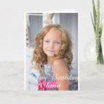 "Custom Photo, Birthday card. Card<br><div class=""desc"">Add your own photograph,  Childs name,  and change verse inside.