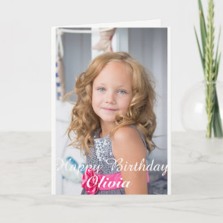 Custom Photo, Birthday card. Card