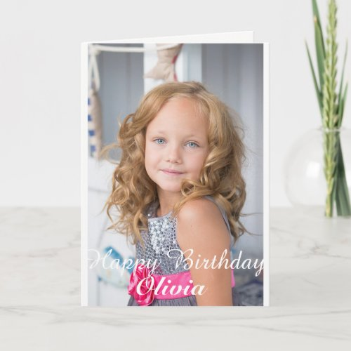 Custom Photo Birthday card Card