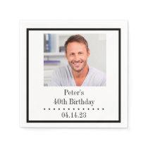 Custom Photo Birthday Paper Napkin