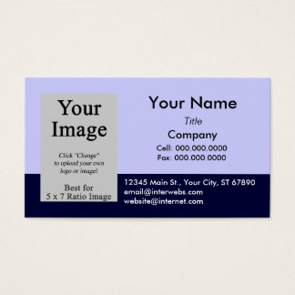 Custom Photo Blue Navy Business Card Template
