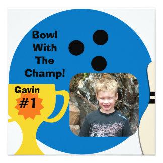 Custom Photo Bowling Champ Invitations