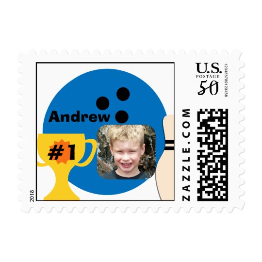 Custom Photo Bowling Champ Postage Stamps
