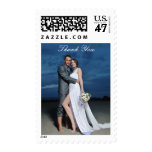 Custom Photo Bride and Groom Thank You Postage